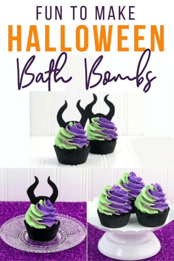 DIY halloween bath bombs