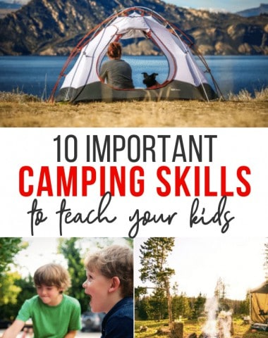 camping skills to teach kids