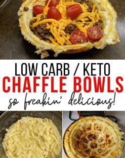 chaffle bowls in dash mini waffle maker