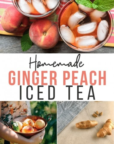 ginger peach iced tea