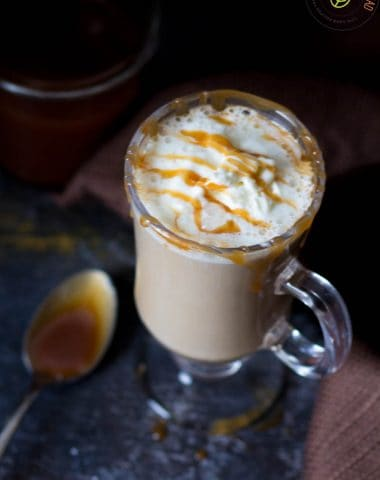 low carb Caramel Pumpkin Latte
