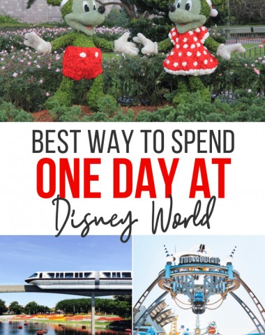 how to spend one day at disney