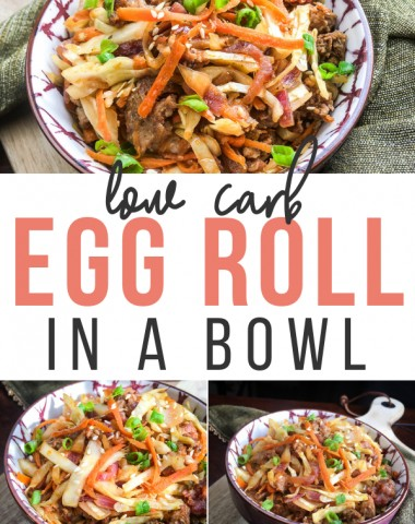 Low Carb Egg Roll Bowl Keto