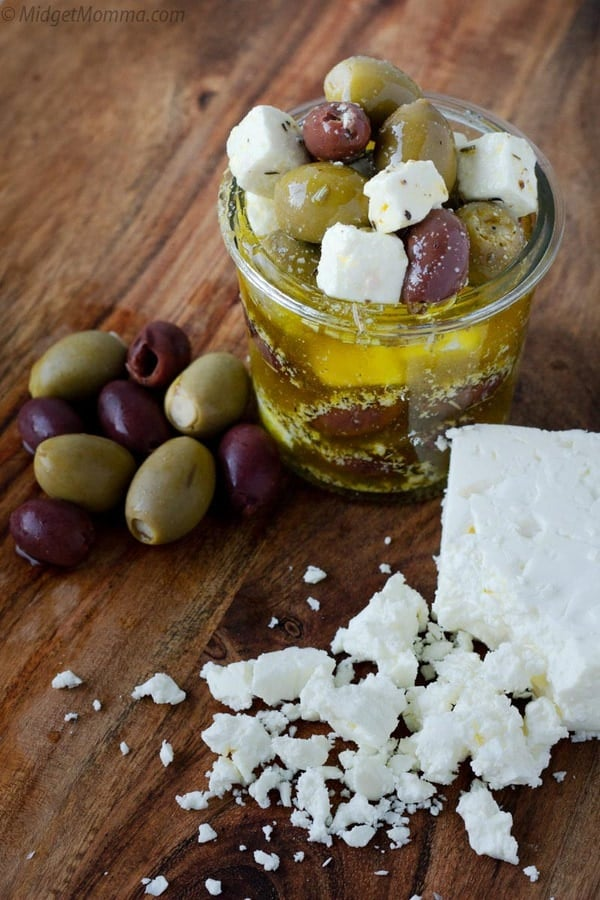 Greek Marinated Olives and Feta Cheese