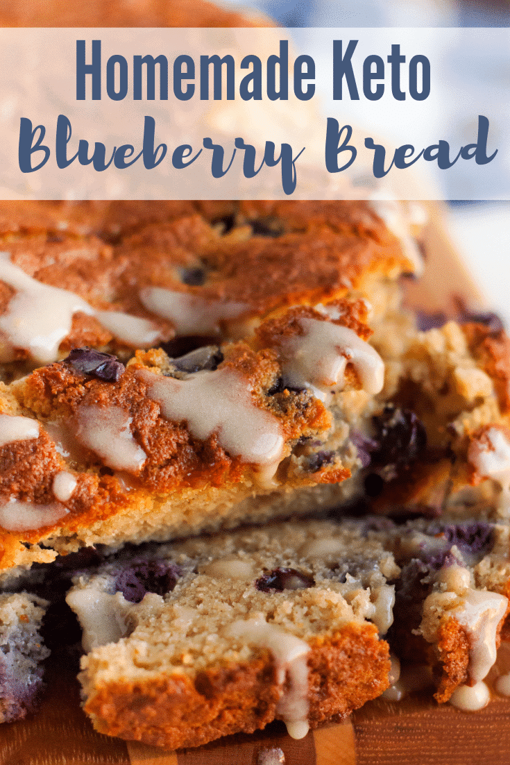 Easy Homemade Keto Blueberry Bread {low carb friendly}