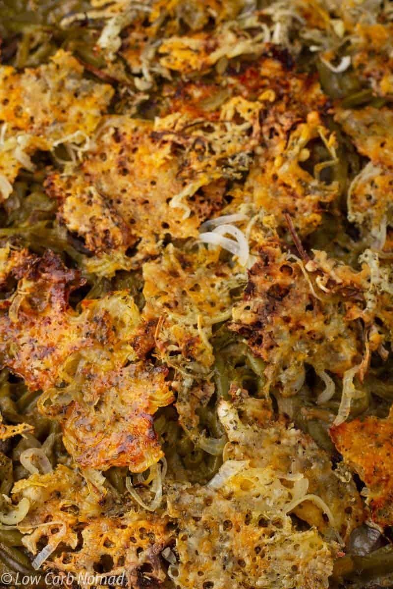 Keto Green Bean Casserole Recipe. With this Keto Green Bean Casserole Recipe you can stick to low carb and keto while enjoying a tasty green bean casserole.