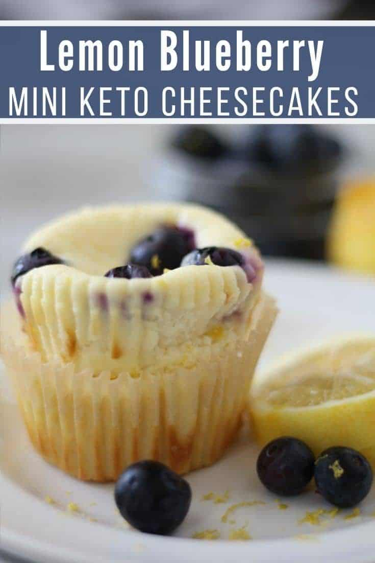 Lemon Blueberry Low Carb Cheesecake Muffins