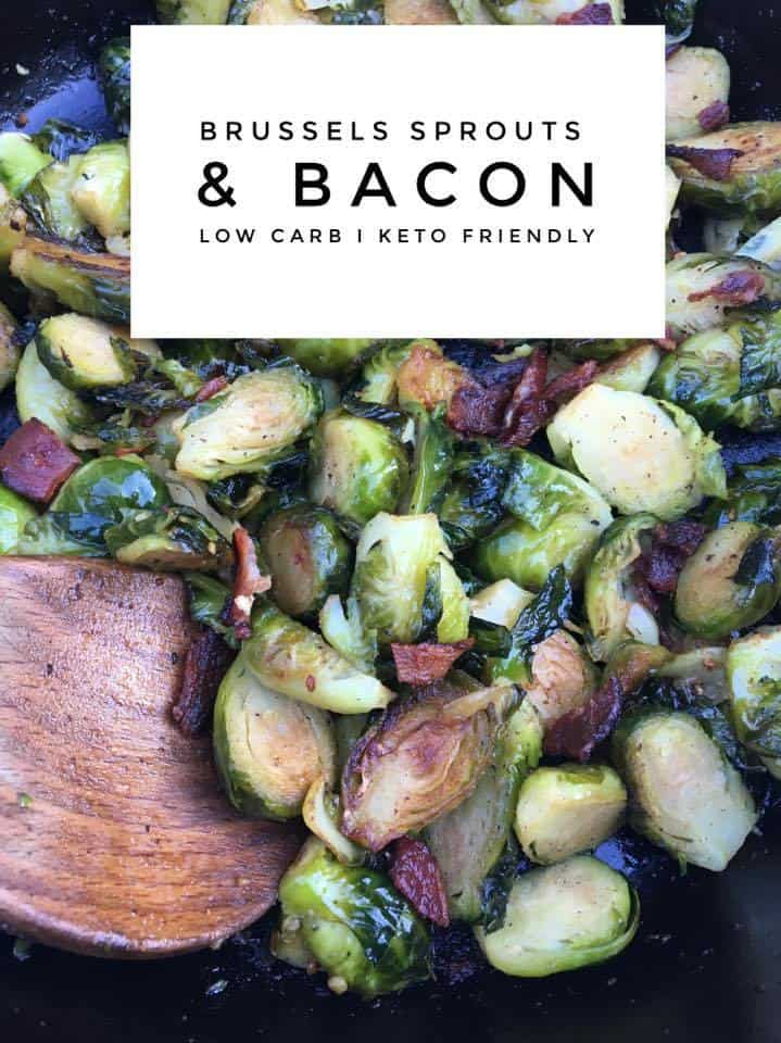 The Most Amazing Keto/Low Carb Brussels Sprouts & Bacon You'll Ever Put in Your Mouth