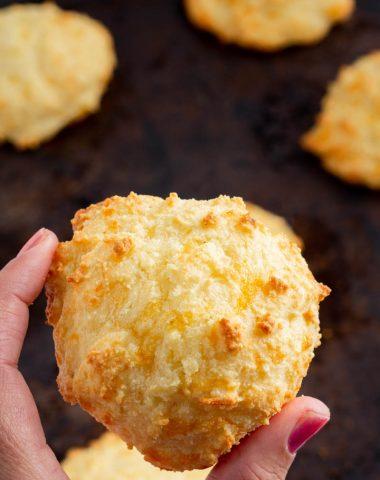 fresh baked Keto Cheddar Biscuits