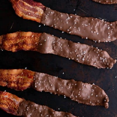Keto Chocolate Covered Oven-Baked Bacon