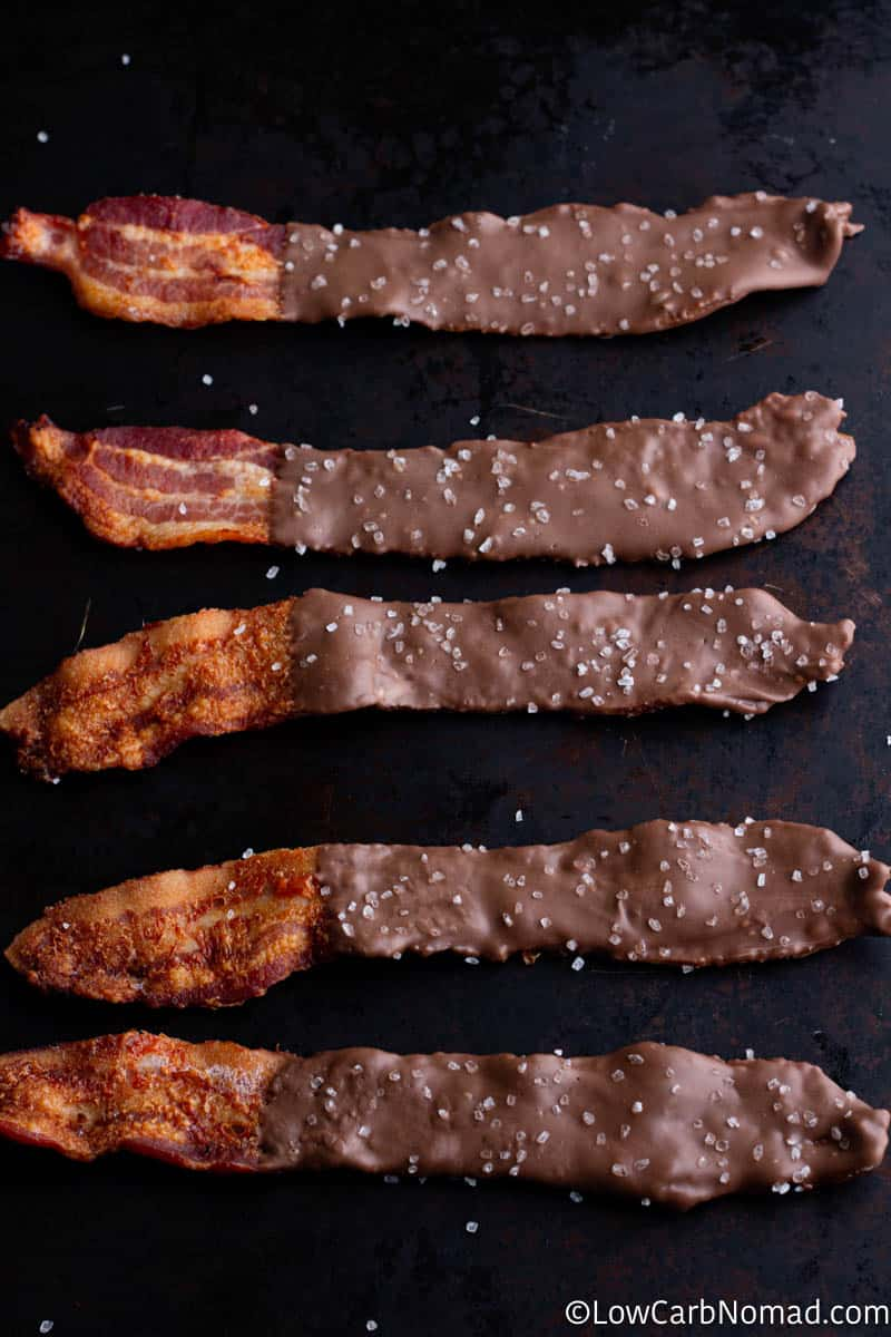 Sugar Free Chocolate Covered Bacon