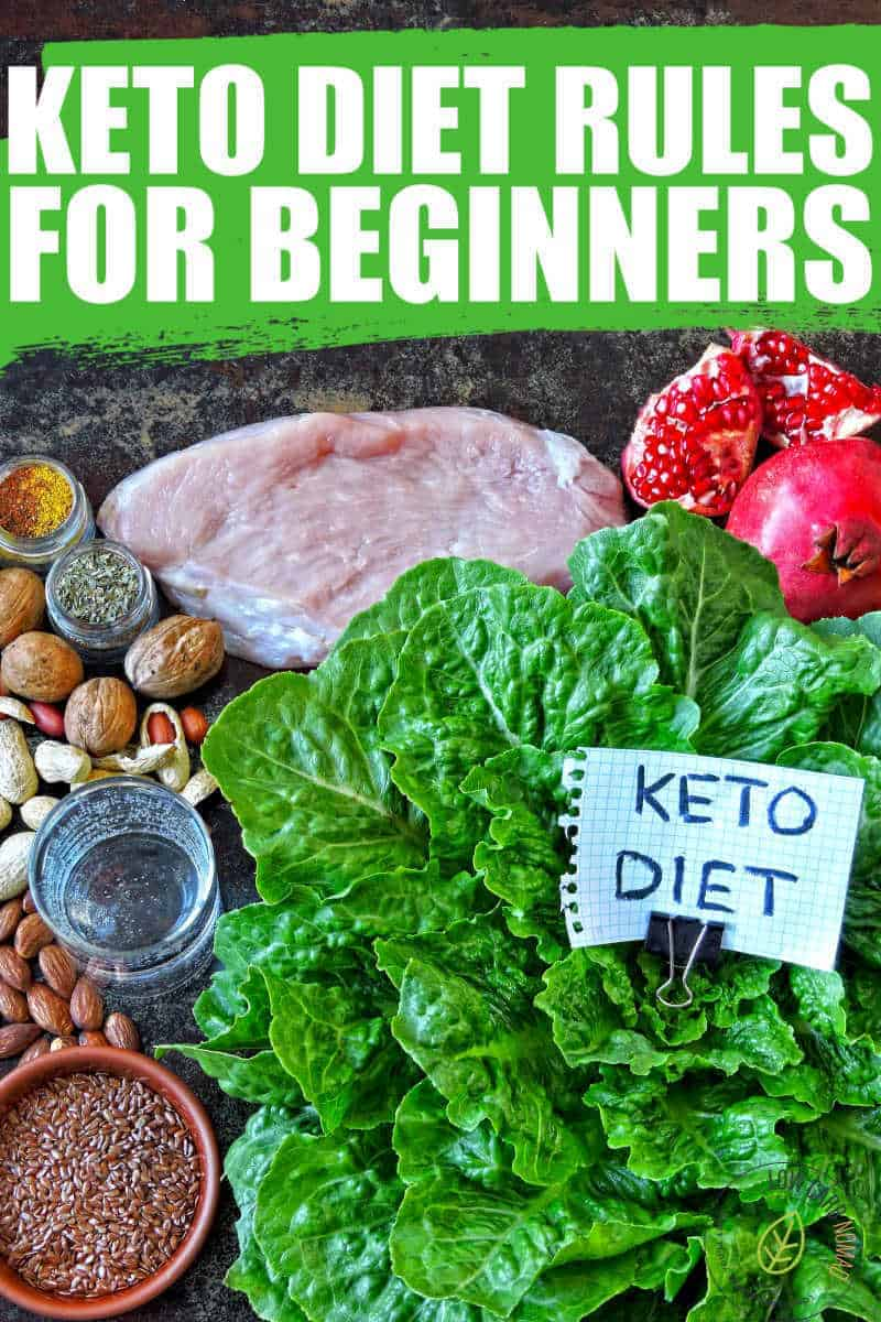KETO DIET RULES FOR BEGINNERS PHOTO WITH VEGGIES AND MEAT THAT ARE KETO FRIENDLY