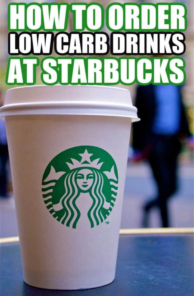 how to order low carb drinks at starbucks