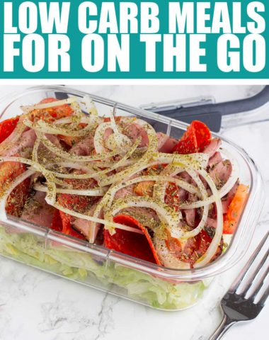 Low Carb Meals on the Go