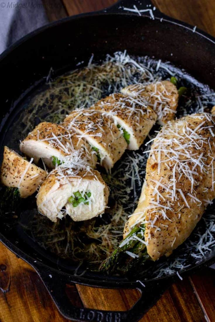Cheesy Asparagus Stuffed Chicken Breasts - Quick and Easy Dinner!