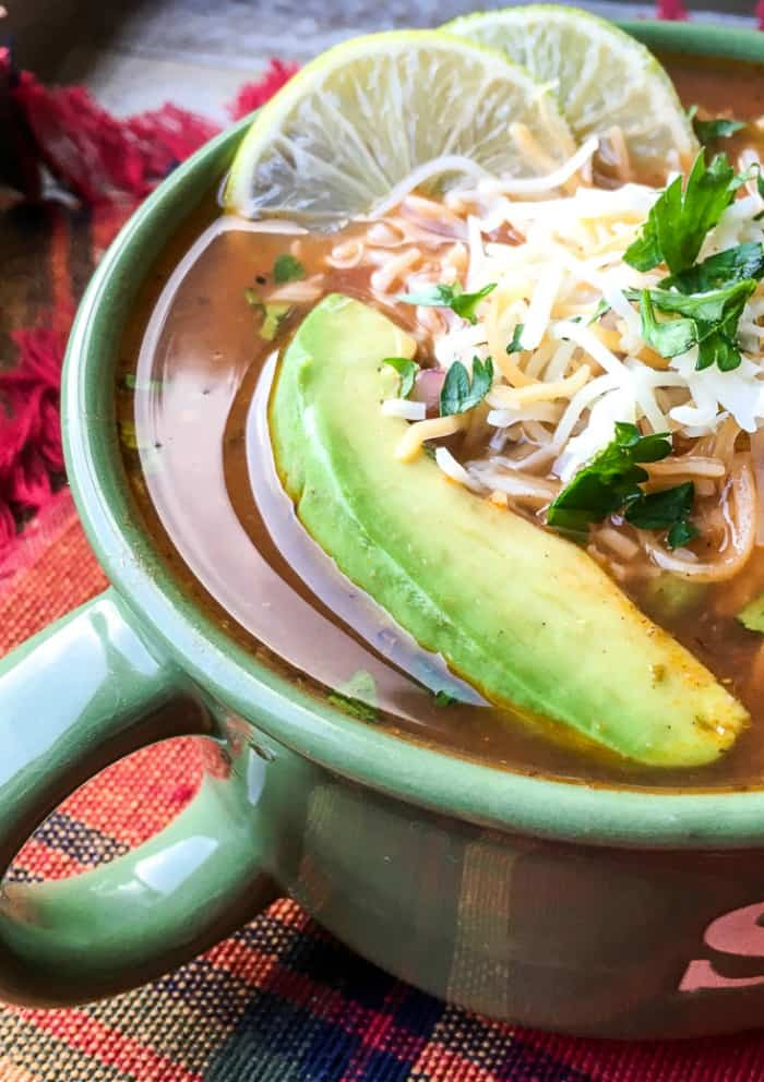 Instant Pot Chicken Fajita Soup - Mama Loves to Eat
