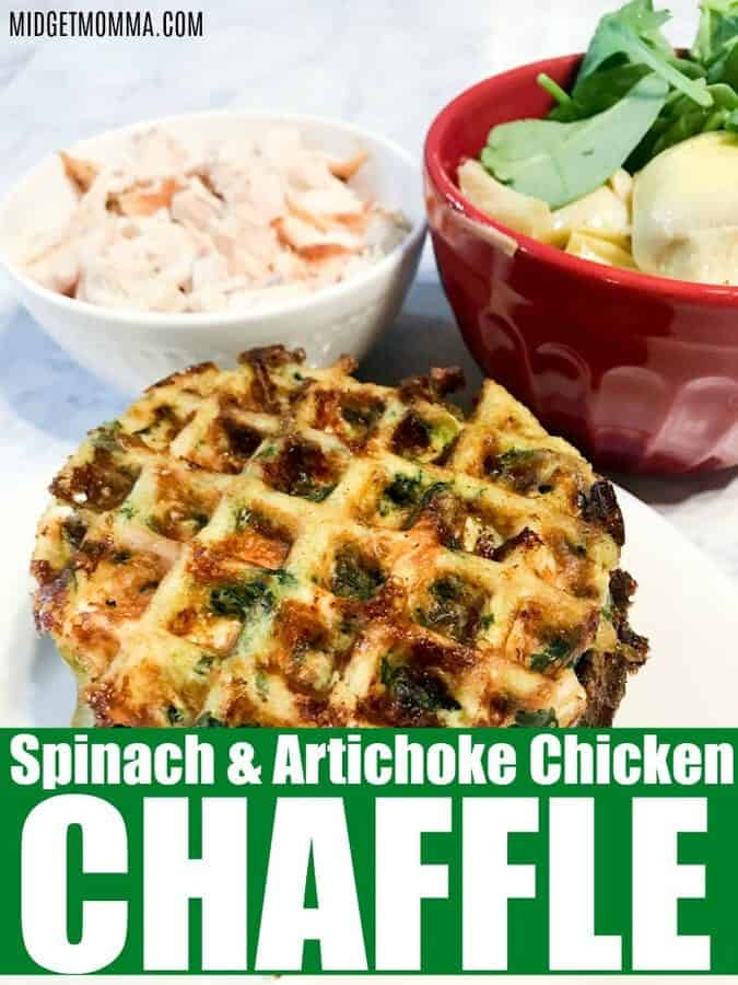 Spinach and Artichoke Chicken Chaffle