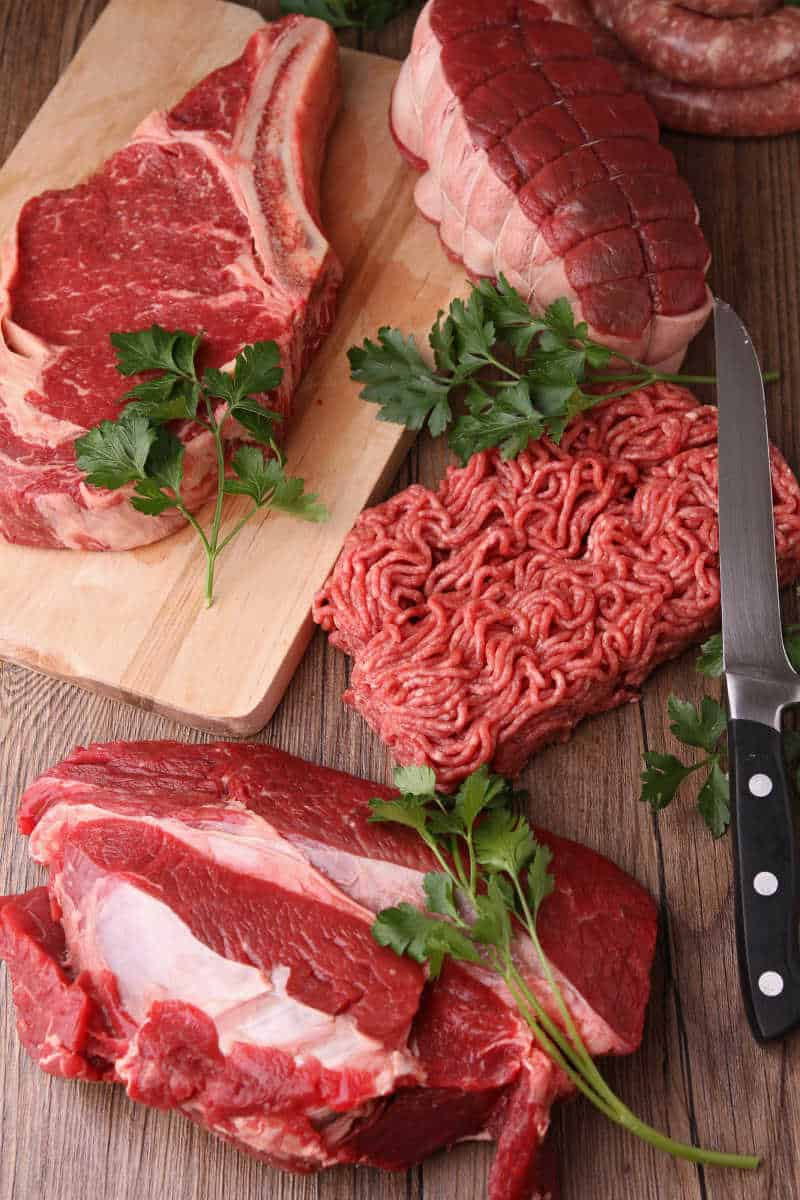 Raw meat in bulk to stay on a budget when eating low carb