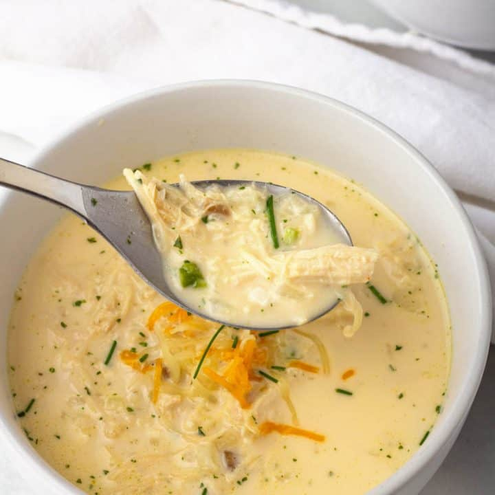 Chicken and Cauliflower Rice Soup