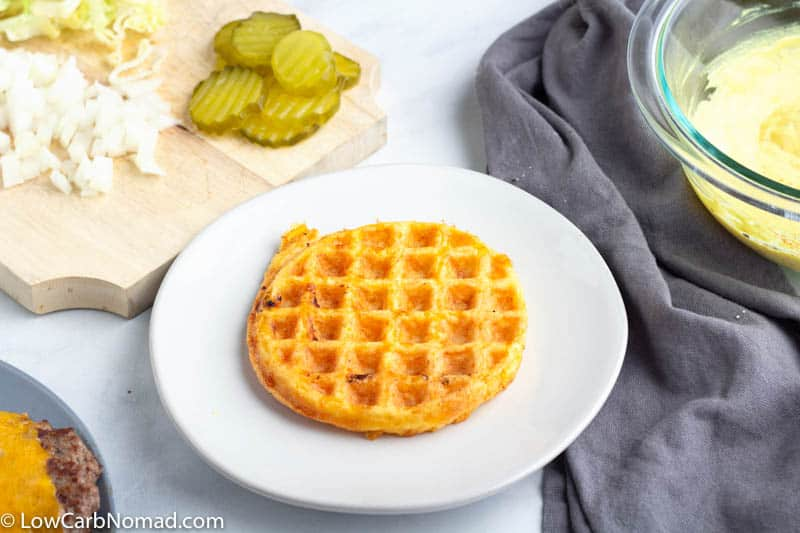 chaffle on plate