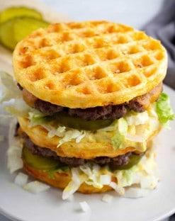 Keto Big Mac Chaffle