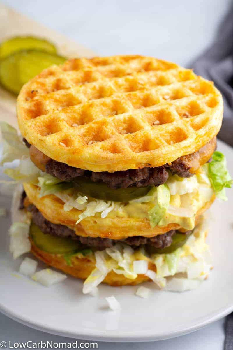 Keto Big Mac Chaffle