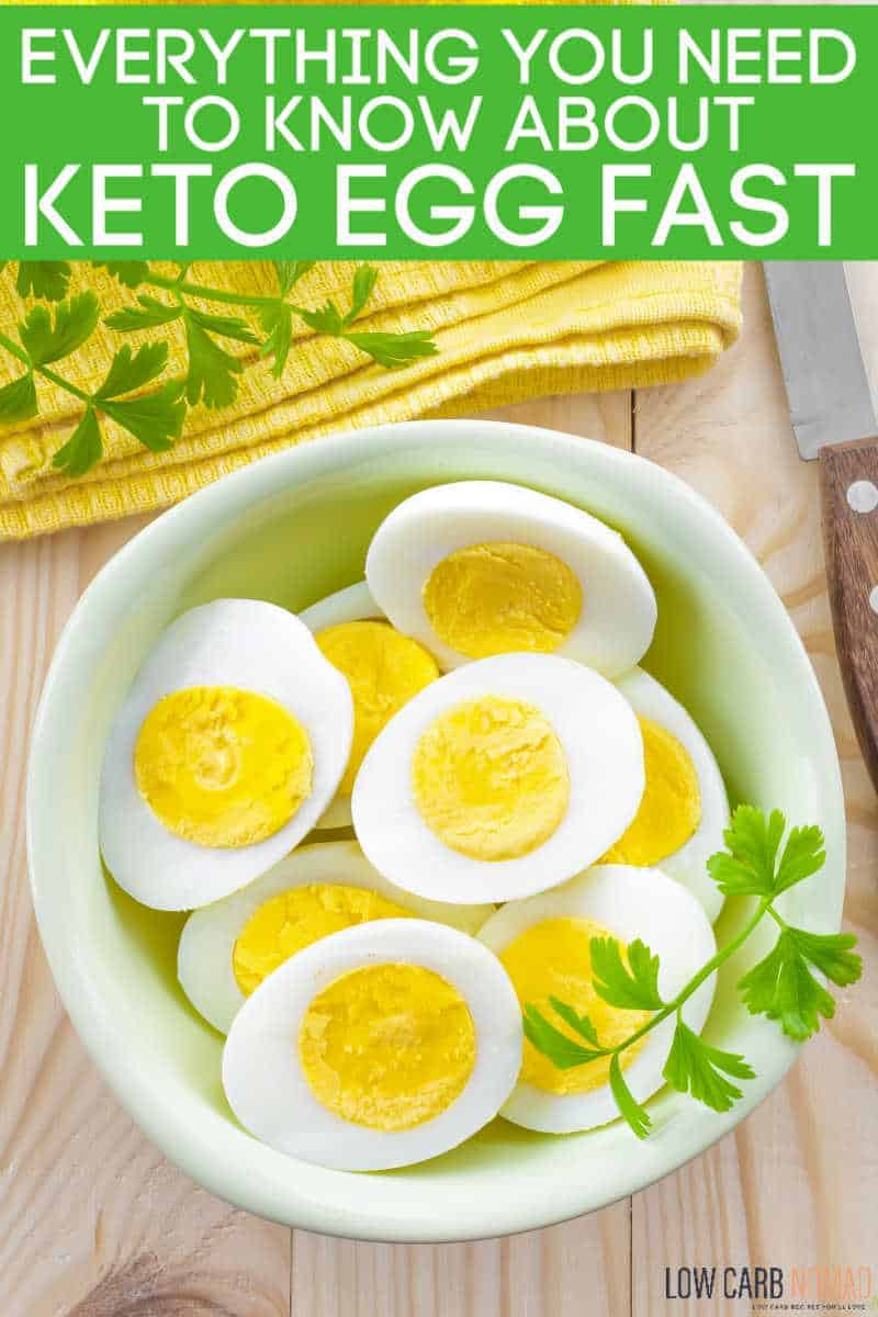 Hardboiled eggs in a bowl for a keto egg fast