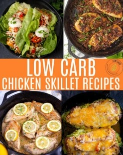 LOW CARB CHICKEN SKILLET RECIPeS COLLAGE