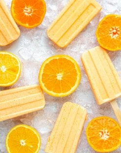 Orange Creamsicle Keto Popsicle Recipe