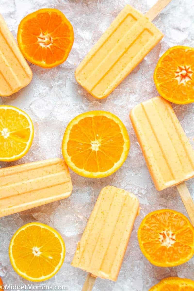 Orange Creamsicle Keto Popsicle Recipe
