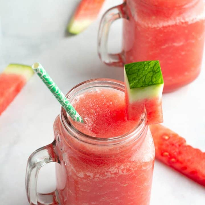 Low Carb Watermelon White Claw Slushie