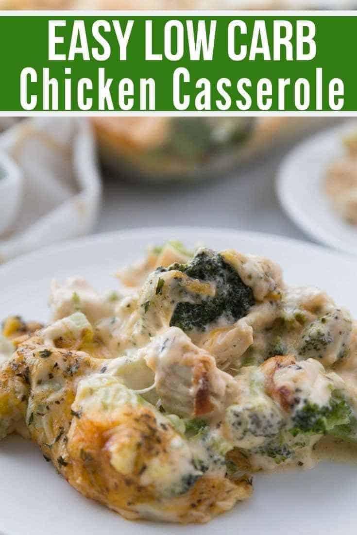 Low Carb Chicken Casserole {keto friendly}