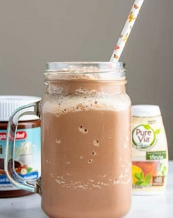 Chocolate Hazelnut Keto Milkshake recipe
