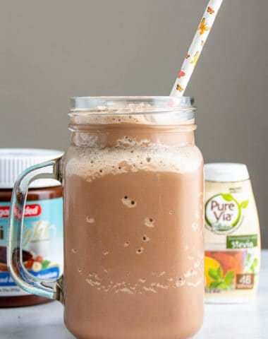 Chocolate Hazelnut Keto Milkshake recipe