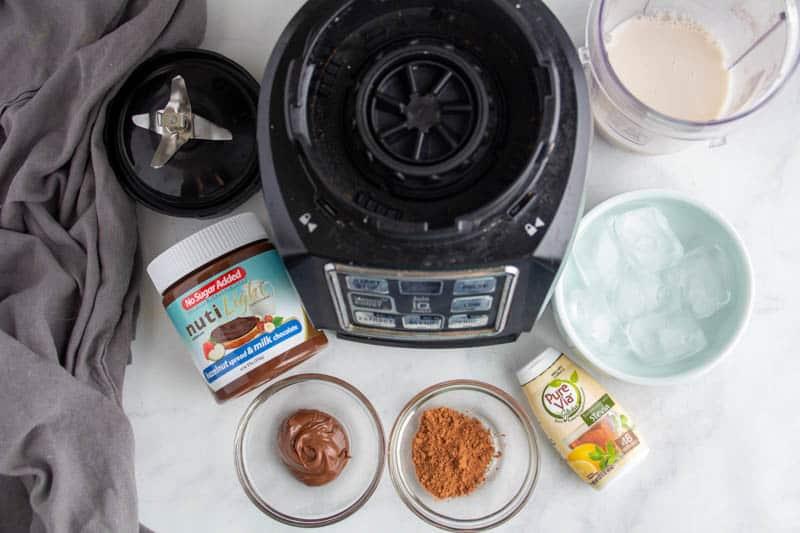 Chocolate Hazelnut Keto Milkshake recipe ingredients