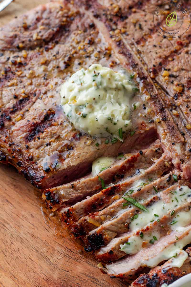 Grilled Steak with Rosemary Garlic Butter