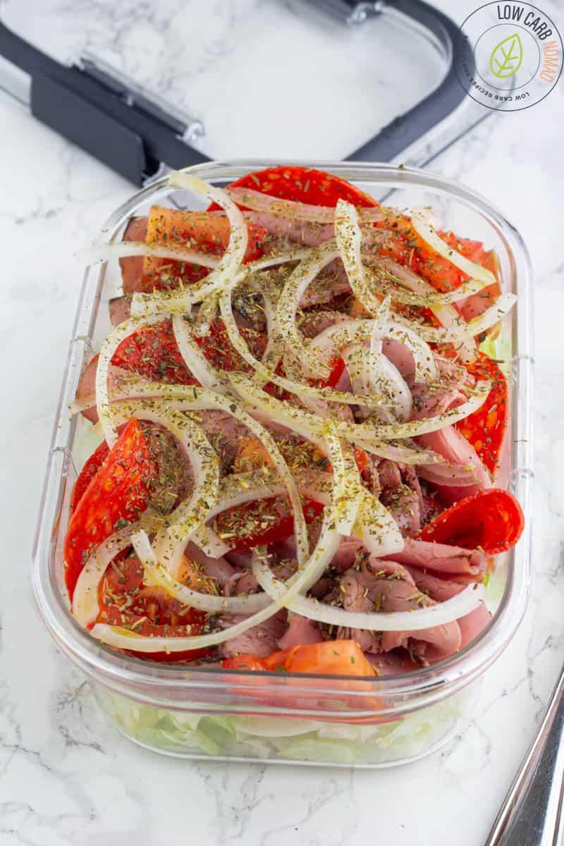 keto sandwich in a bowl