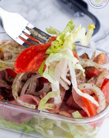 Italian Sub Sandwich In a Bowl