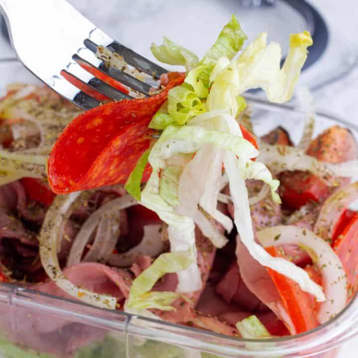 Italian Sub Keto Sandwich In a Bowl