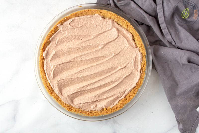 Chocolate Mousse in a pie crust