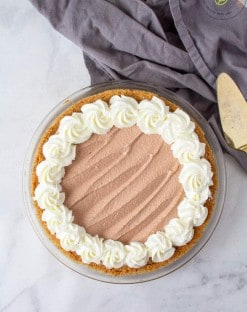 low carb Chocolate Mousse Pie