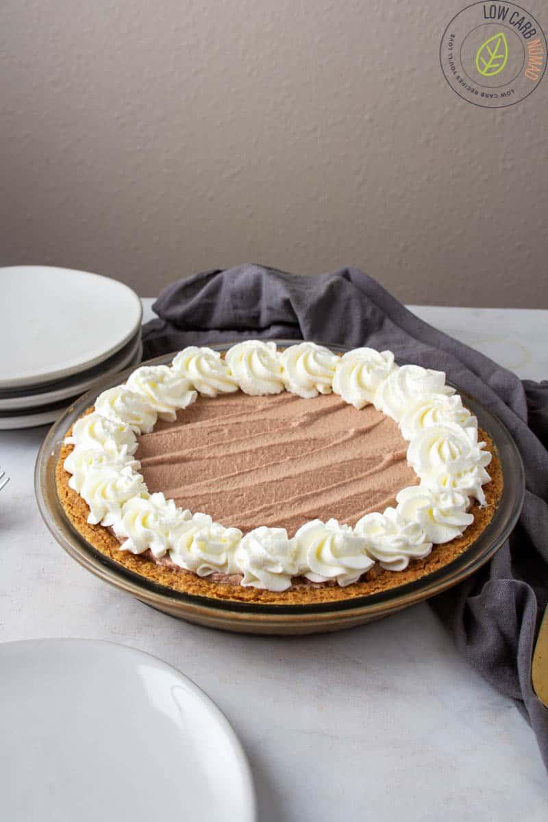 Keto Chocolate Mousse Pie