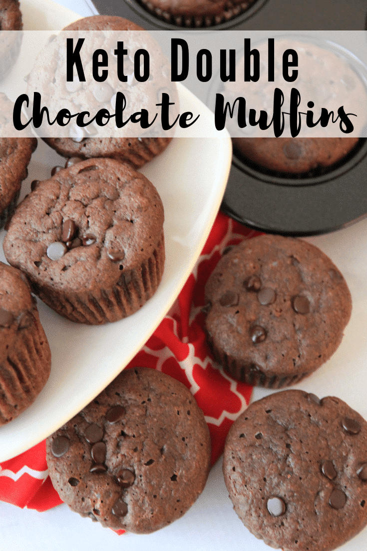 Keto Double Chocolate Muffins - Chocolate Lovers!