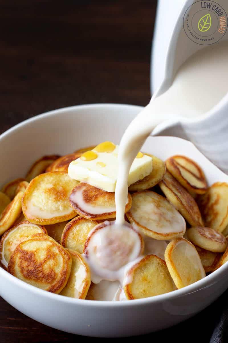 Low Carb Mini Pancakes Cereal