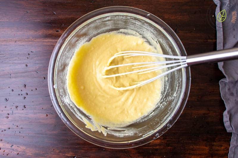 whisking ingredients in bowl