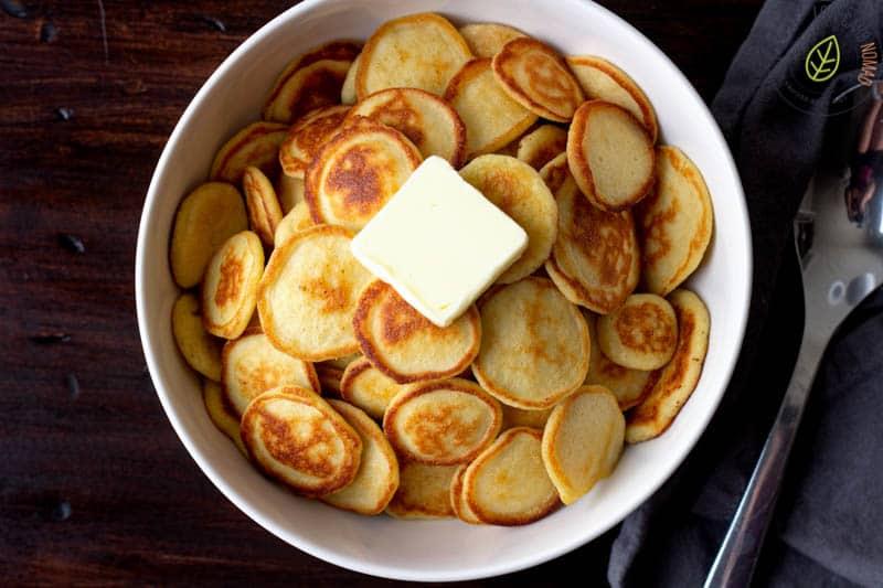 bowl of mini pancakes