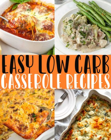 LOW CARB CASSEROLE RECIPE