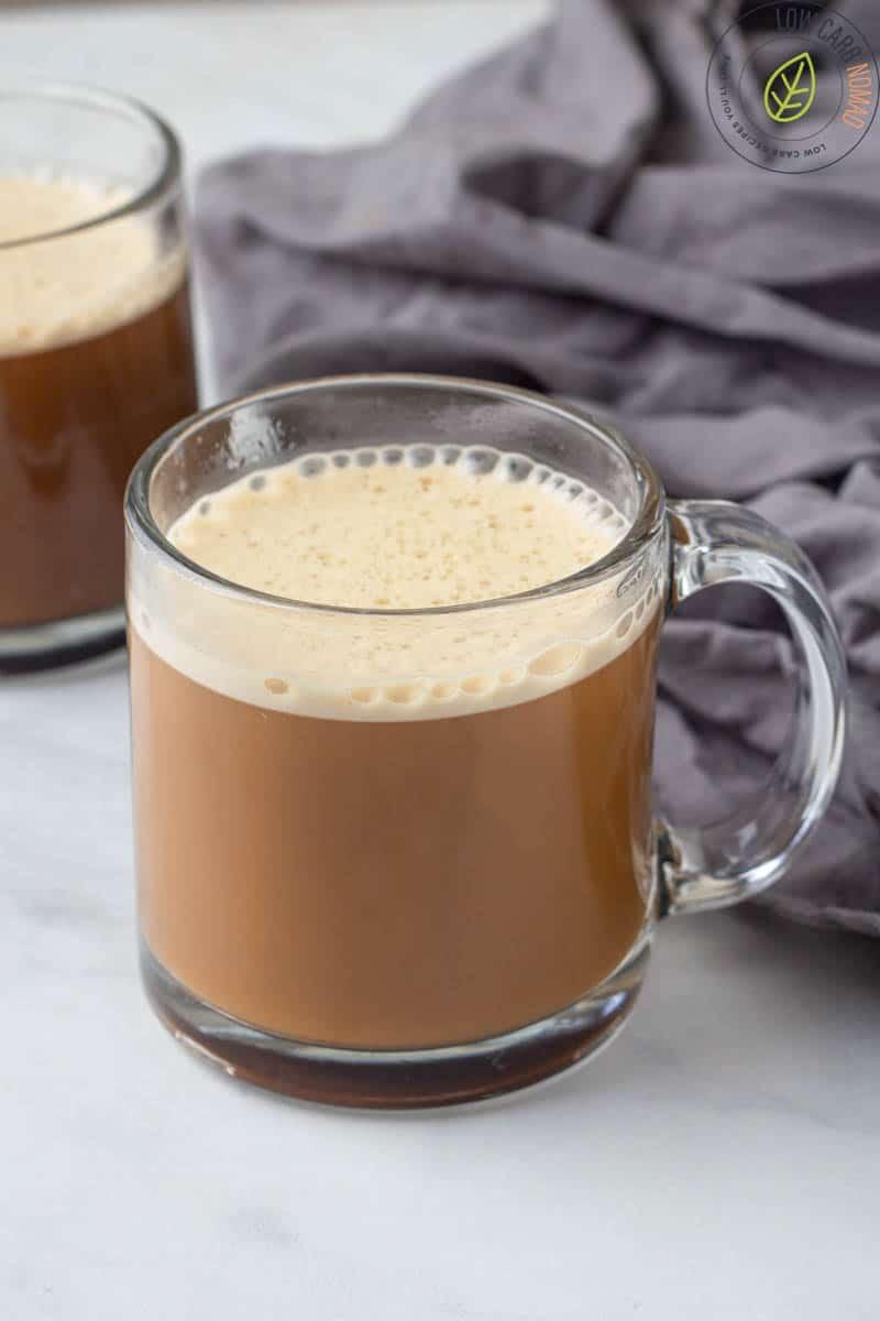 keto bulletproof coffee in a cup
