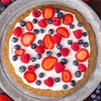 Keto Fruit Cookie Pizza
