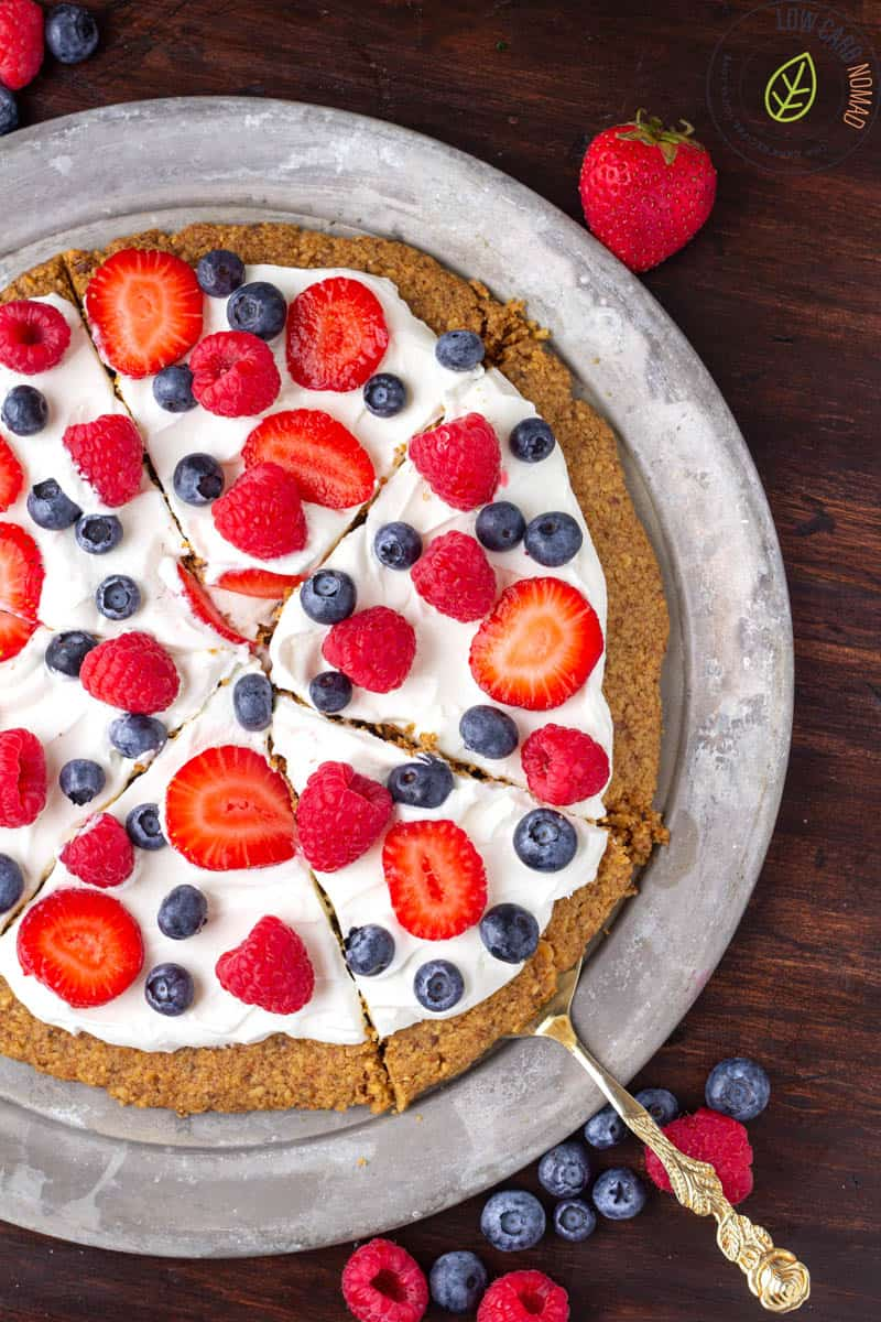 Keto Fruit Cookie Pizza